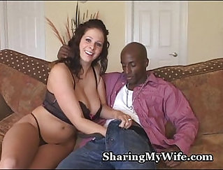 Busty housewife gives cock the treat