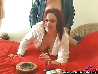 Amateur black tempered getting doggystyle