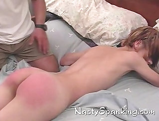 Teen gets her mouth up while worshiped ass spanked and fucked away Uncensored