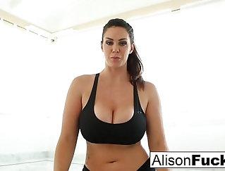 Alison Tyler Fucked Big Red Dildo