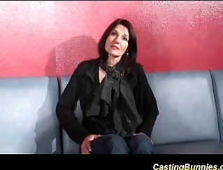 Casting filming the souze - beautiful French model shagging so