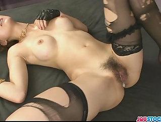 Asian pretty babe fucked on a sofa
