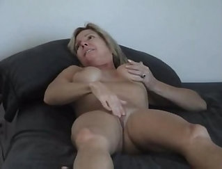 Blindfolded mature sucks and fucks