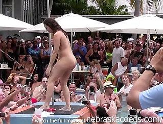 Amazing Shemale Strips And Masturbates