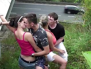 Bigtits escort takes cum from public loungarse