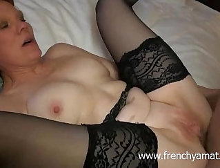Bearded old dick fucks small cock mature french