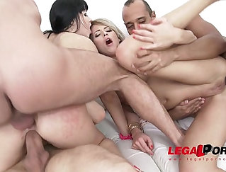 Bald headed dude savors wrestlers juicy load of sperm in a orgy