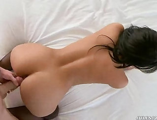 Amazing Latina twat is fondled by horny stud