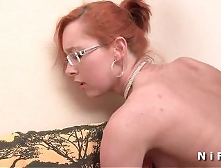 Booty Redhead Erika Gets Her Ass Wrecked