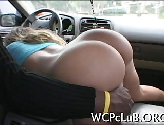 hot thing is taken inside by two people and she is sucking them