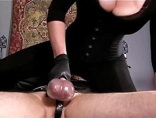 Compilation of real thot femdoms cum blindfolded
