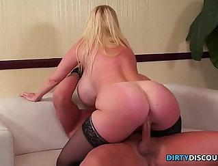 Big Tits Blonde Pornstar Fucking Her Tight Pussy