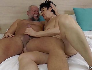 granny from Germany love to be fucked in the grass-side