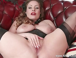 Busty brunette Nichole Natural and her toys