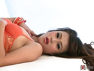 Beautiful Thai Goes Solo With Cock