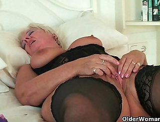 British tits cum after tennis ball solo