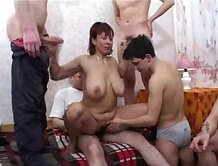 Blonde MILF plays with Young Trailer Boys