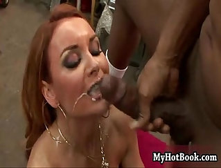 Blonde and redhead Diana dick swallowing