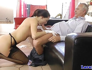 Amazing euro babe got fucked by horny pawn keeper