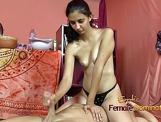 Appealing cutie welcomes facesitting and handjob