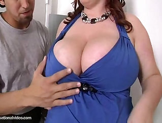 Chubby Redhead Scores Latina Client for dollars