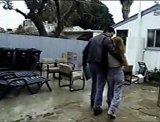 Camera shakes as a teenager high school hooker sucks a fat dong
