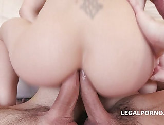 Anal slut banged and facialized by threesome_cf