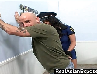 Asian honey gets the black police