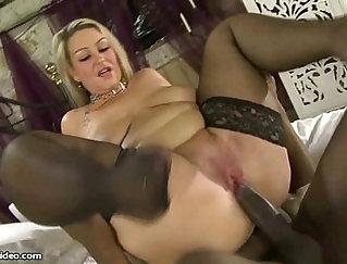 Big titty british MILF screwed by black cocks