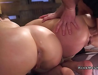 Brunette Babe Getting Anal Dominated