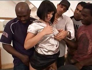 Brooke Louise Go Hardcore Interracial Gangbang
