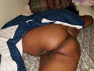 Black cock creampie MILF gets fucked on camera
